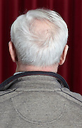 back view portrait of an 89 year old man