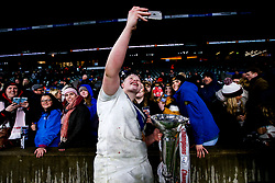 Hannah Botterman of England Women celebrates winning the Women's Six Nations and Grand Slam - Mandatory by-line: Robbie Stephenson/JMP - 16/03/2019 - RUGBY - Twickenham Stadium - London, England - England Women v Scotland Women - Women's Six Nations