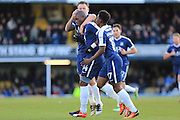 GOAL Marc-Antoine Fortune celebrates 1-0 during the EFL Sky Bet League 1 match between Southend United and Rochdale at Roots Hall, Southend, England on 14 January 2017. Photo by Daniel Youngs.