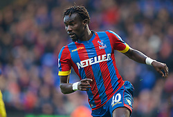 LONDON, ENGLAND - Saturday, February 21, 2015: Crystal Palace's Pape Souare in action against Arsenal during the Premier League match at Selhurst Park. (Pic by David Rawcliffe/Propaganda)