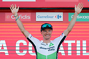 Podium, Benjamin King (USA - Dimension Data) winner, during the UCI World Tour, Tour of Spain (Vuelta) 2018, Stage 9, Talavera de la Reina - La Covatilla 200,8 km in Spain, on September 3rd, 2018 - Photo Luis Angel Gomez / BettiniPhoto / ProSportsImages / DPPI