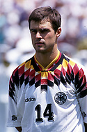 FIFA World Cup - USA 1994<br /> 10.7.1994, Giants Stadium, New York/New Jersey.<br /> World Cup Quarter Final, Bulgaria v Germany.<br /> Thomas Berthold - Germany