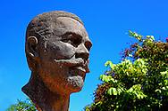 Maceo bust at the park in Bauta, Artemisa, Cuba.
