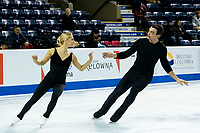 KELOWNA, BC - OCTOBER 24: Team USA Olympic figure skaters, Alexa Scimeca Knierim and Chris Knierim, warm up on the ice during pairs practice of Skate Canada International at Prospera Place on October 24, 2019 in Kelowna, Canada. (Photo by Marissa Baecker/Shoot the Breeze)