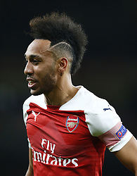 March 14, 2019 - London, United Kingdom - London, UK, 14 March, 2019.Pierre-Emerick Aubameyang of Arsenal.during Europa League Round of 16 2nd Leg  between Arsenal and Rennes at Emirates stadium , London, England on 14 Mar 2019. (Credit Image: © Action Foto Sport/NurPhoto via ZUMA Press)