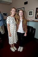 "14/07/2013  Saoirse Ronan  with Missy Keating (daughter of Ronan and  Yvonne) who stars The Sea at the 25th Galway Film Fleadh at the Town Hall Theatre in Galway for ""An Afternoon with Saoirse Ronan hosted by Arena's Sean Rocks. Picture:Andrew Downes"