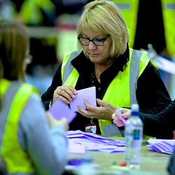 SCOTTISH PARLIAMENTARY ELECTION 2016 – Counting Agents at work at Royal Highland Centre, Edinburgh<br />
