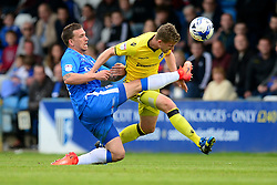 Lee Mansell of Bristol Rovers battles for the ball with Cody McDonald of Gillingham - Mandatory by-line: Alex James/JMP - 14/04/2017 - FOOTBALL - MEMS Priestfield Stadium - Gillingham, England - Gillingham v Bristol Rovers - Sky Bet League One