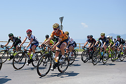 Nikki Brammeier in the bunch along the Salerno seafront on Stage 8 of the Giro Rosa - a 141.8 km road race, between Baronissi and Centola fraz. Palinuro on July 7, 2017, in Salerno, Italy. (Photo by Sean Robinson/Velofocus.com)