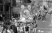 Barnsley Area Road Transport Branch banner. 1992 Yorkshire Miners Gala, Barnsley.