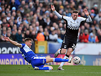 Football - 2019 / 2020 Emirates FA Cup - Third Round: Bristol Rovers vs. Coventry City<br /> <br /> Coventry City's Jordan Shipley battles for possession with Bristol Rovers' Alfie Kilgour, at the Memorial Stadium.<br /> <br /> COLORSPORT/ASHLEY WESTERN