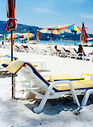Beach chairs on Patong Beach