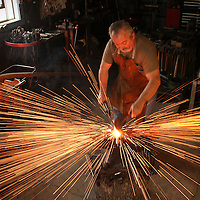 Terry Allen of Mountain Man Blacksmithing in Piqua, Ky., on Friday, May 13, 2011. Photo by David Stephenson
