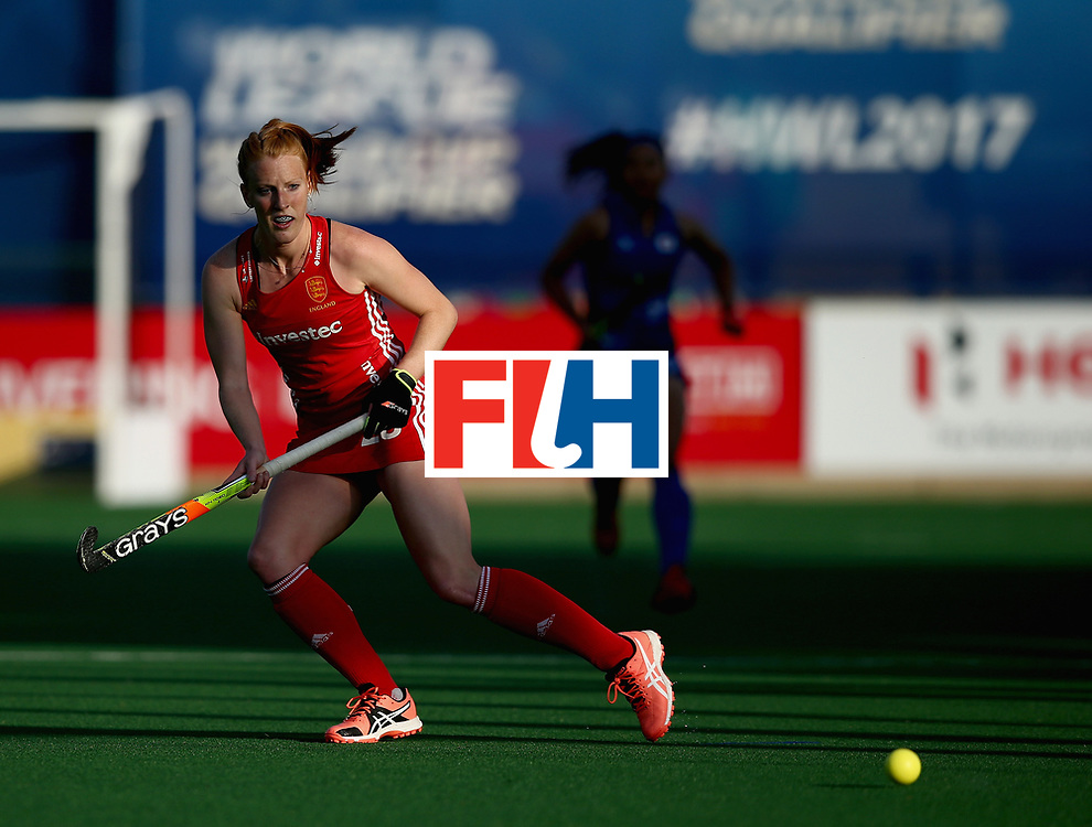 JOHANNESBURG, SOUTH AFRICA - JULY 12: Nicola White of England in action during day 3 of the FIH Hockey World League Semi Finals Pool A match between Japan and England at Wits University on July 12, 2017 in Johannesburg, South Africa. (Photo by Jan Kruger/Getty Images for FIH)