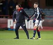 Dundee manager Paul Hartley and captain Darren O&rsquo;Dea at the end - Dundee v Hearts in the Ladbrokes Scottish Premiership at Dens Park, Dundee. Photo: David Young<br /> <br />  - &copy; David Young - www.davidyoungphoto.co.uk - email: davidyoungphoto@gmail.com