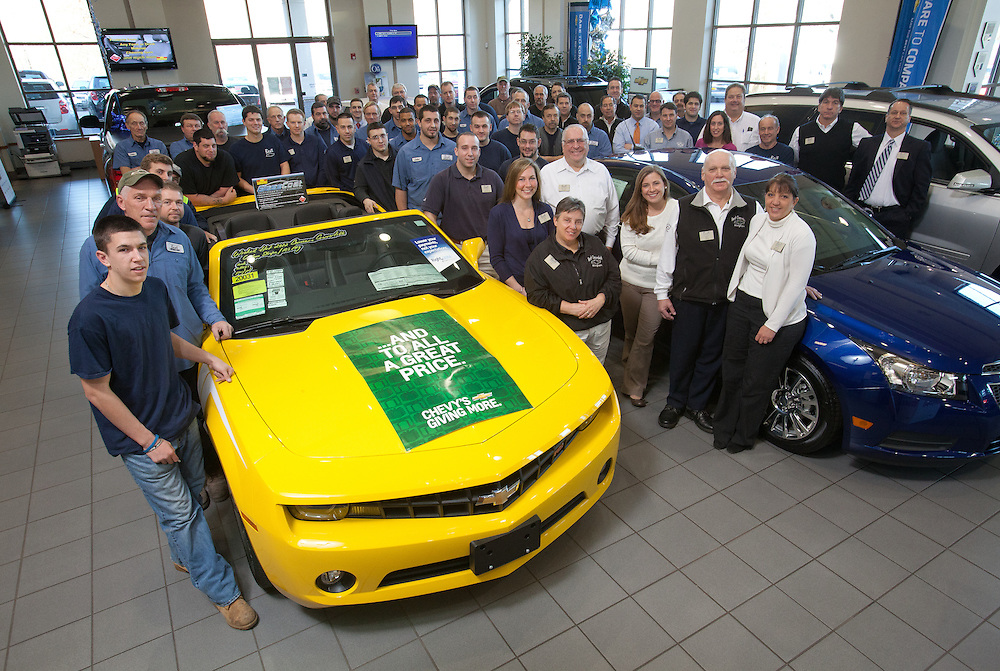 Hingham, MA 11/22/2011.The staff of Best Chevrolet in Hingham.For South Shore Hospital President's Circle Ad..Alex Jones / www.alexjonesphoto.com