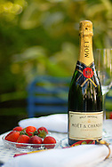 Moet and Strawberries on our Inviting Terrace