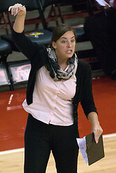 13 October 2012: Melissa Myers during an NCAA volleyball game between the Drake Bulldogs and the Illinois State Redbirds.  The Redbirds won the match in 3 straight sets at Redbird Arena in Normal Illinois