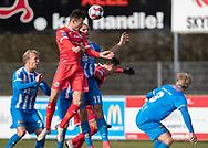 FODBOLD: Pascal Gregor (FC Helsingør) header på mål under kampen i NordicBet Ligaen mellem Thisted FC og FC Helsingør den 3. marts 2019 på Sparekassen Thy Arena i Thisted. Foto: Claus Birch