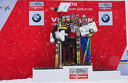 01.02.2013, Olympiaarena, Sotschi, RUS, FIS Langlauf Weltcup, Sprint Maenner, im Bild v.l. Dario Cologna (SUI), Petter Northug (NOR), Daniel Hofer (AUT) // during sprint men of FIS cross country world cup at Olympic Arena in Sotschi, RUS,] on 2013/02/01. EXPA Pictures © 2013, PhotoCredit: EXPA/ Freshfocus/ Merkushev..***** ATTENTION - for AUT, SLO, CRO, SRB, BIH only *****