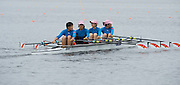 Hamburg. GERMANY.   CHN JW4X. returning to the boating area after their Saturday Morning, Semi Finals A/B  at the 2014 FISA Junior World rowing. Championships.  11:24:00  Saturday  09/08/2014  [Mandatory Credit; Peter Spurrier/Intersport-images]
