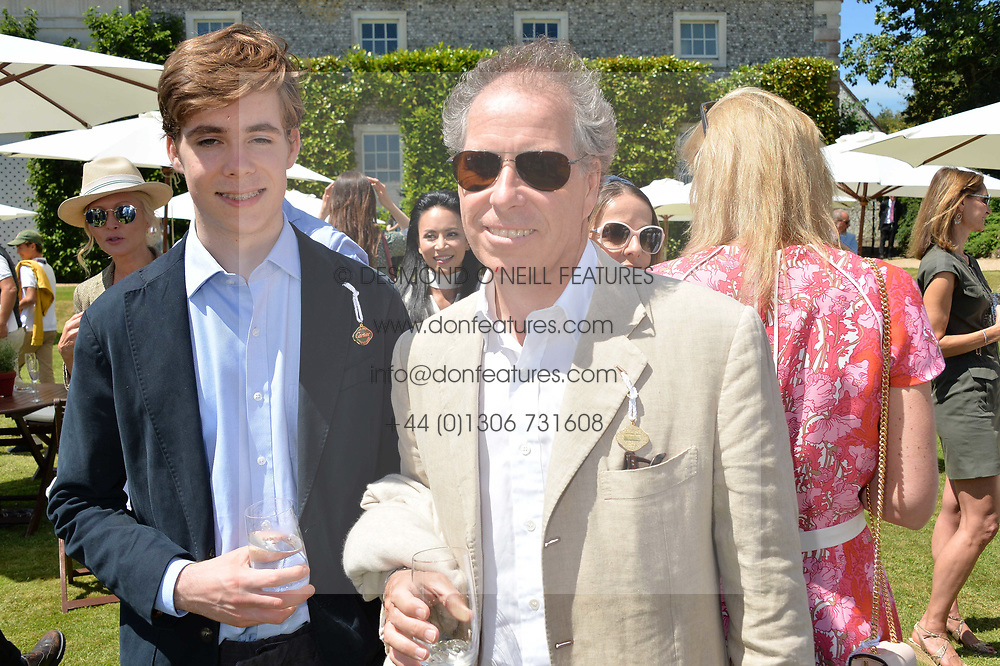 The Earl of Snowdon and his son Lord Linley at the Cartier Style et Luxe at the Goodwood Festival of Speed, Goodwood, West Sussex, England. 2 July 2017.<br /> Photo by Dominic O'Neill/SilverHub 0203 174 1069 sales@silverhubmedia.com