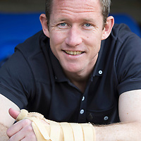 St Johnstone's Frazer Wright pictured ahead of Saturday's William Hill Scottish Cup Final...Frazer will be playing with his hand strapped up after an injury...15.05.14<br /> Picture by Graeme Hart.<br /> Copyright Perthshire Picture Agency<br /> Tel: 01738 623350  Mobile: 07990 594431