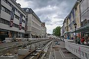 Germany, Baden-Wurttemberg Freiburg im Breisgau, construction of a light rail system