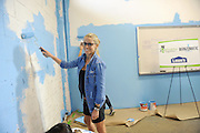 Restoration expert Nicole Curtis partners with Bernzomatic, the industry leader in handheld torches, and Rebuilding Together to launch the Bernzomatic Find Your Fire Community Grants program at Staten Island MakerSpace in New York, Thursday, Oct. 22, 2015, a community center still feeling the effects of Hurricane Sandy three years later.  Bernzomatic is encouraging people to submit a community project for a chance to win one of three $10,000 grants and a visit from Curtis. Go to Bernzomatic.com/Grants for more information and to enter.  (Photo by Diane Bondareff/Invision for Bernzomatic/AP Images)