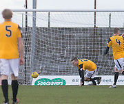 East Fife&rsquo;s Jamie Insall scores his side's second goal - East Fife v Arbroath, SPFL League Two at New Bayview<br /> <br />  - &copy; David Young - www.davidyoungphoto.co.uk - email: davidyoungphoto@gmail.com