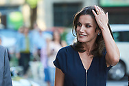 Queen Letizia of Spain attends the Final of the scientific monologue contest 'FameLab Spain 2019' at Gran Maestre Theatre on May 14, 2019 in Madrid, Spain