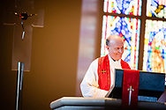South Dakota District President Rev. Scott Sailer preaches during a Service of Praise with Assignment of Calls on Wednesday, May 1, 2019, at the Chapel of St. Timothy and St. Titus at Concordia Seminary, St. Louis. LCMS Communications/Erik M. Lunsford