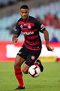 SYDNEY, AUSTRALIA - MARCH 30: Western Sydney Wanderers player Kwame Yeboah (27 controls the ball at round 23 of the Hyundai A-League Soccer between Western Sydney Wanderers FC and Melbourne City FC on March 30, 2019 at ANZ Stadium in Sydney, Australia. (Photo by Speed Media/Icon Sportswire)