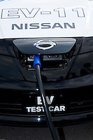 Nissan EV-11 Electric car at the company Grand Drive circuit in Yokohama near Tokyo, Japan.