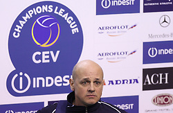 Head coach of ACH Glenn Hoag after 8th final volleyball match of CEV Indesit Champions League Men 2008/2009 between ACH Volley Bled (SLO) and Zenit Kazan (RUS), on February 12, 2009 in Hall Tivoli, Ljubljana, Slovenia. (Photo by Vid Ponikvar / Sportida)