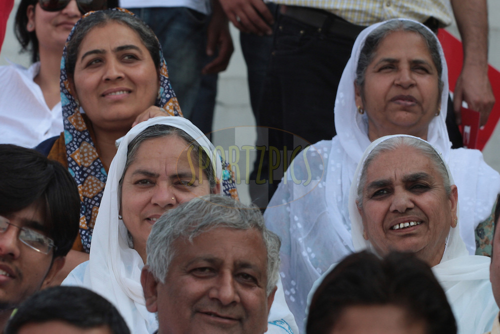 Old women watching during match 9 of the Indian Premier League ( IPL ) Season 4 between the Kings XI Punjab and the Chennai Super Kings held at the PCA stadium in Mohali, Chandigarh, India on the 13th April 2011..Photo by Anil Dayal/BCCI/SPORTZPICS
