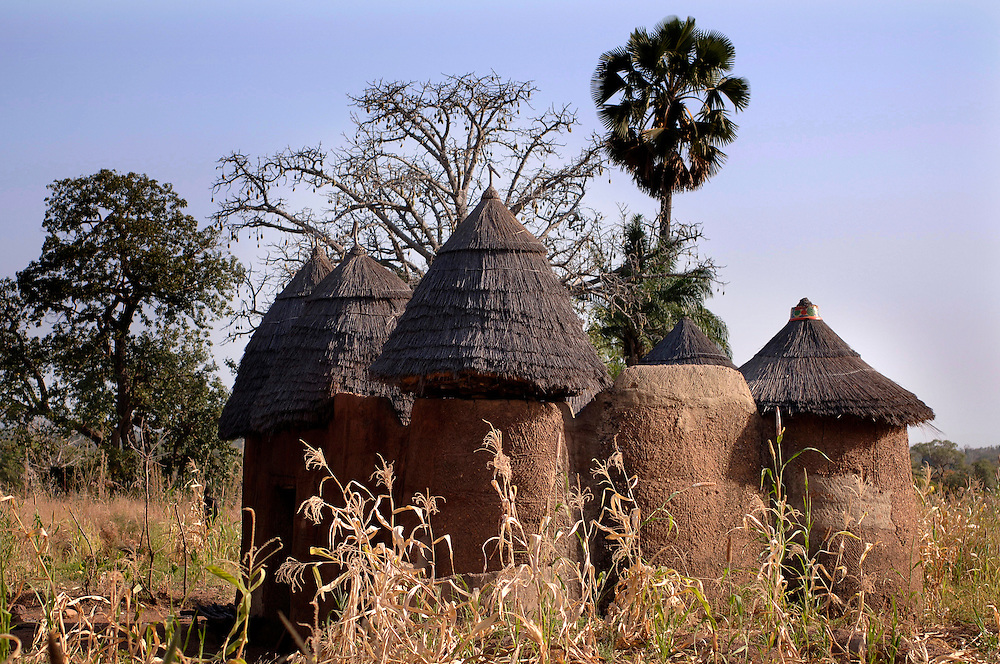 Boukoumbe December 2006 - The home is built in the Tata Somba architectural style. © Jean-Michel Clajot