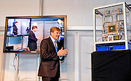 BREEZANDDIJK - King Willem Alexander opens Wednesday November 26, 2014 the Blue Energy pilot plant in Breezanddijk on the Dam aflsluitdijk  , Koning opent woensdagmiddag 26 november 2014 de Blue Energy proefinstallatie in Breezanddijk op de Afsluitdijk COPYRIGHT ROBIN UTRECHT