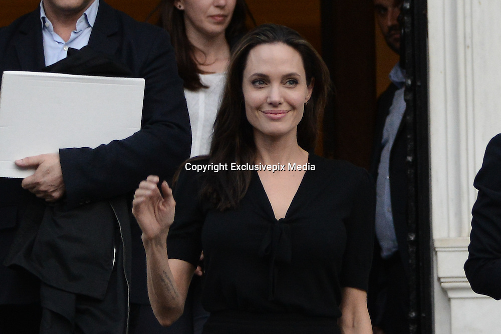March 16, 2016 - Athens, Attica, Greece - <br /> <br /> Angelina Jolie Visits Refugee Camp in Greece<br /> <br /> UNHCR ambassador and famous Hollywood actor Angelina Jolie <br /> ©Exclusivepix Media