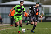 Forest Green Rovers Paul Digby(20) runs forward during the EFL Sky Bet League 2 match between Forest Green Rovers and Lincoln City at the New Lawn, Forest Green, United Kingdom on 2 March 2019.