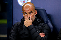 Manchester City manager Pep Guardiola - Mandatory by-line: Robbie Stephenson/JMP - 22/10/2019 - FOOTBALL - Etihad Stadium - Manchester, England - Manchester City v Atalanta - UEFA Champions League Group Stage