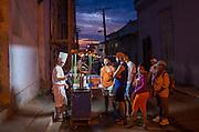 Street food snacks at dusk, Trinidad, Cuba