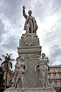 Jose Marti Monument in Parque Central, Havana Vieja, Cuba.
