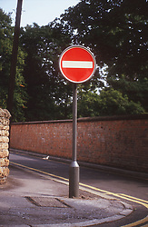 No Entry road sign,