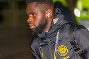 Odsonne Edouard of Celtic FC arrives at Parkhead ahead of the Europa League match between Celtic and FC Copenhagen at Celtic Park, Glasgow, Scotland on 27 February 2020.