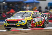 19th May 2018, Winton Motor Raceway, Victoria, Australia; Winton Supercars Supersprint Motor Racing; Chaz Mostert drives the number 55 Tickford Racing Ford Falcon FG X during race 13 of the 2018 Supercars Championship