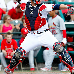 March 19, 2012; Lake Buena Vista, FL, USA; Atlanta Braves catcher Brian McCann (16) against the St. Louis Cardinals during a spring training game at Disney Wide World of Sports complex. Mandatory Credit: Derick E. Hingle-US PRESSWIRE