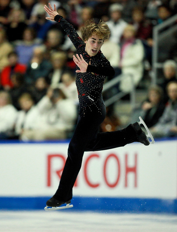 20101030 -- Kingston, Ontario -- Paolo Bacchini of Italy skates his free skate at Skate Canada International in Kingston, Ontario, Canada, October 30, 2010. <br /> AFP PHOTO/Geoff Robins