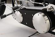 Brass Ball Bobber motorcycle Model 1 production custom chopper on white background