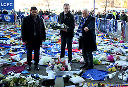 Leicestershire Police and Crime Commissioner Lord Bach looks at the tributes at Leicester City Football Club. PRESS ASSOCIATION Photo. Picture date: Friday November 2, 2018. Leicester Chairman, Vichai Srivaddhanaprabha, was among those to have tragically lost their lives on Saturday evening when a helicopter carrying him and four other people crashed outside King Power Stadium. See PA story SOCCER Leicester. Photo credit should read: Nigel French/PA Wire